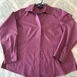 Foxcroft purple shirt